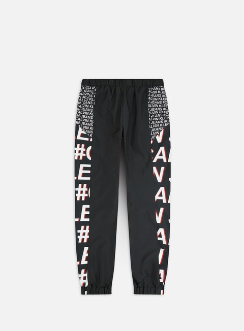 Outlet e Saldi Tute Calvin Klein Jeans Hashtag Logo Aop Fashion Track Pant