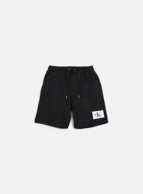 pantaloni calvin klein jeans homeros 3 fleece shorts black