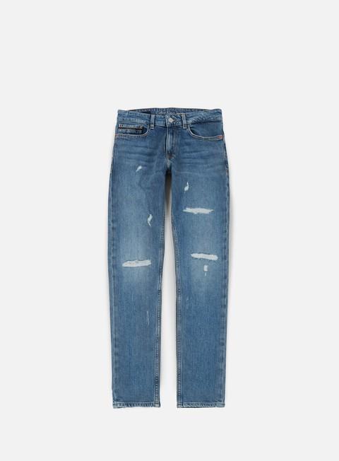 pantaloni calvin klein jeans manchester skinny pant manchester blue destroy