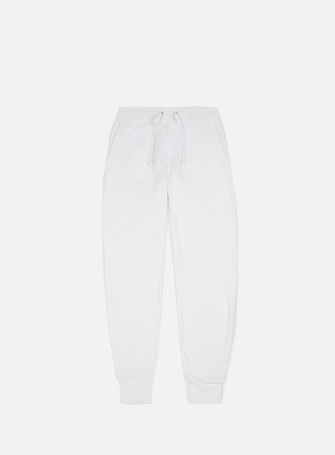 pantaloni calvin klein jeans monogram logo sweatpant bright white