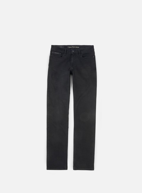 pantaloni calvin klein jeans slim straight pant black tarantula