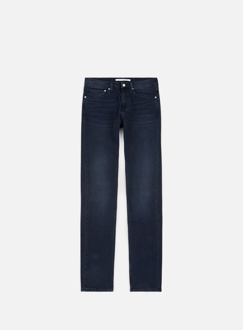 pantaloni calvin klein jeans slim west pant paris blue black