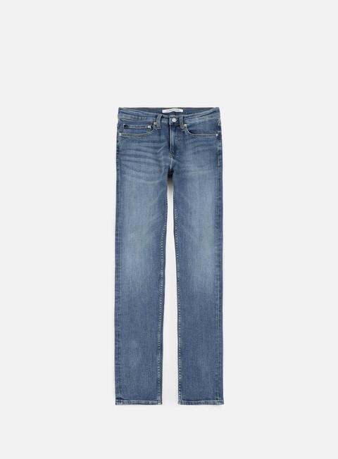 pantaloni calvin klein jeans slim west pant truffle blue