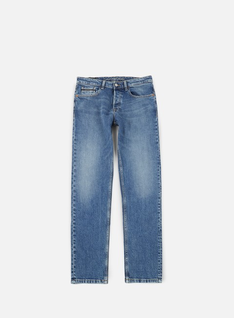 pantaloni calvin klein jeans straight taper pant isolation blue