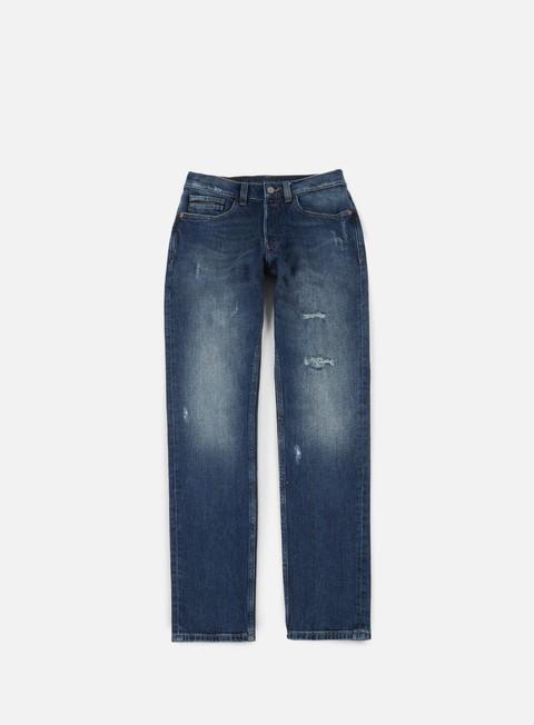 pantaloni calvin klein jeans straight taper pant phoenix blue deconstructed