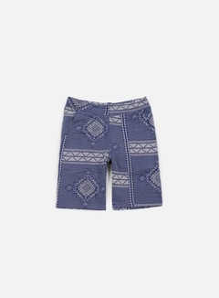 Carhartt - Assyut Sweat Short, Assyut Print Blue/White