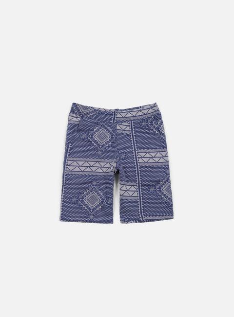 pantaloni carhartt assyut sweat short assyut print blue white