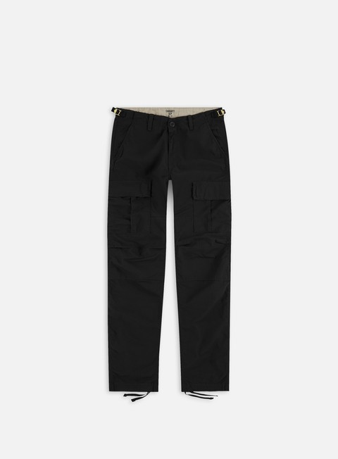 pantaloni carhartt aviation pant ripstop black rinsed