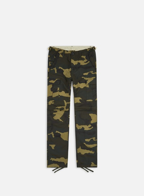pantaloni carhartt aviation pant ripstop camo laurel rinsed