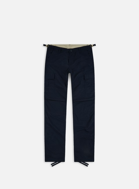 pantaloni carhartt aviation pant ripstop dark navy rinsed