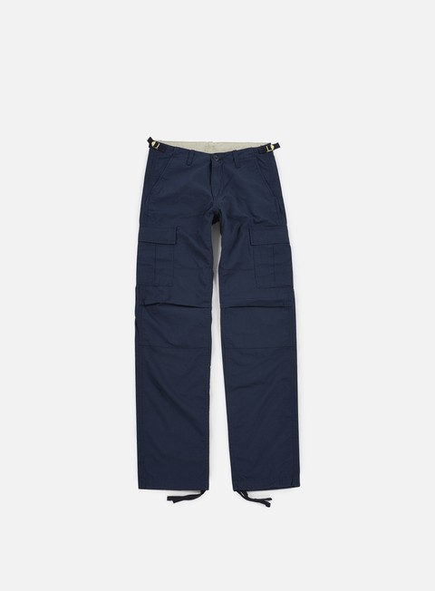pantaloni carhartt aviation pant ripstop navy rinsed
