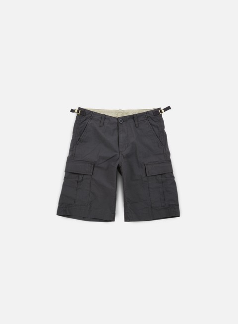 pantaloni carhartt aviation short blacksmith rinsed