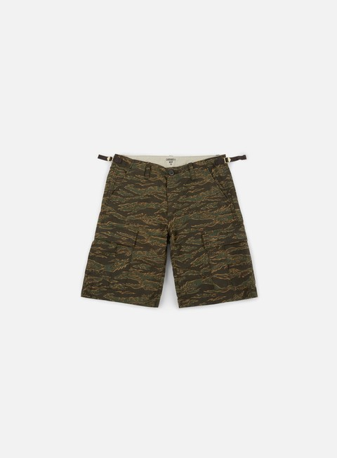 pantaloni carhartt aviation short camo tiger laurel rinsed