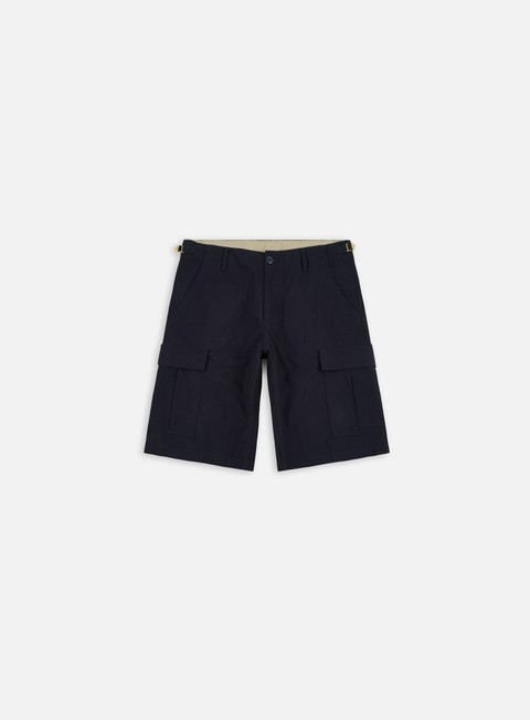 pantaloni carhartt aviation short dark navy rinsed