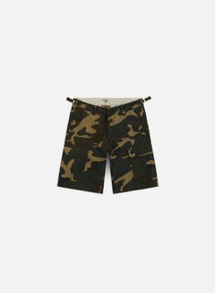 Carhartt - Aviation Shorts, Camo Laurel Rinsed