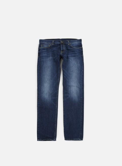 pantaloni carhartt buccaneer pant blue natural dark wash