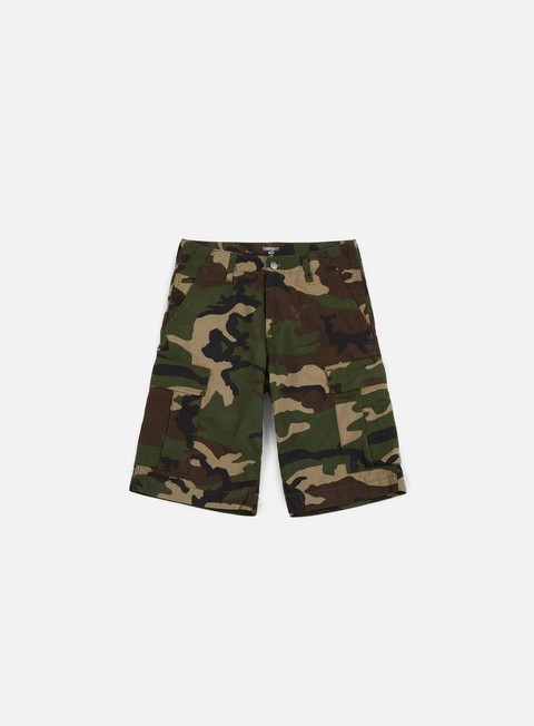 pantaloni carhartt cargo short camo green