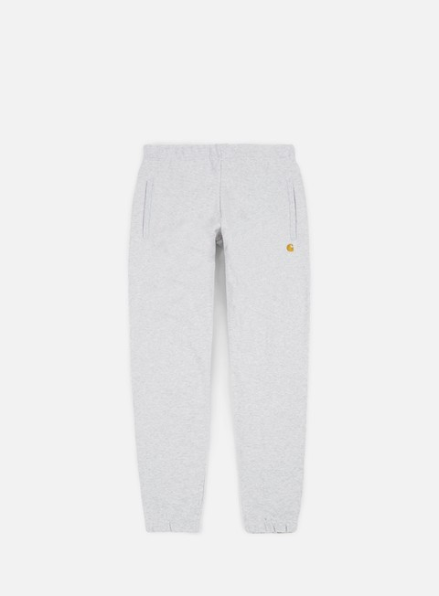 pantaloni carhartt chase sweat pant ash heather gold