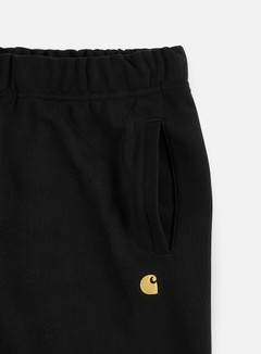 Carhartt - Chase Sweat Pant, Black/Gold 4
