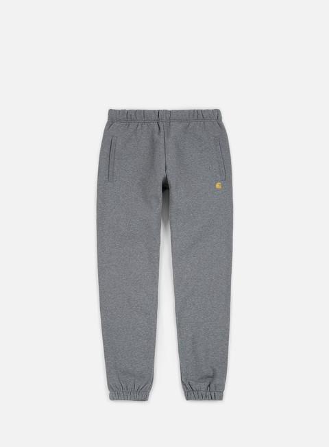 pantaloni carhartt chase sweat pant dark grey heather gold