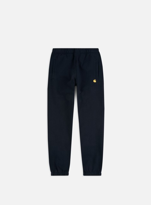 pantaloni carhartt chase sweat pant dark navy gold
