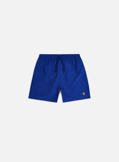 Carhartt - Chase Swim Trunks, Submarine/Gold