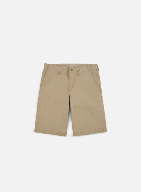 pantaloni carhartt club short leather rinsed