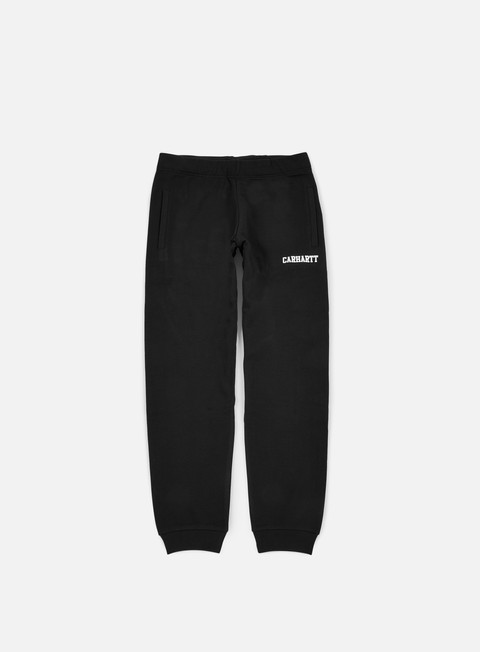pantaloni carhartt college sweat pant black white