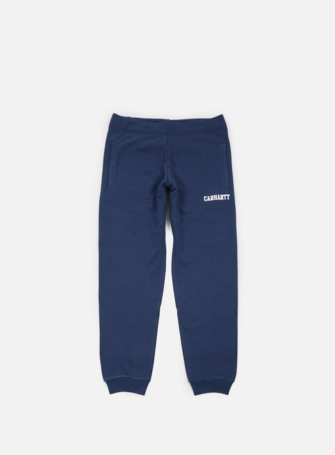 pantaloni carhartt college sweat pant blue white