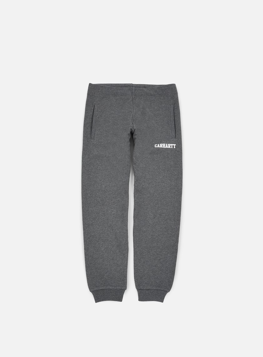 Carhartt - College Sweat Pant, Dark Grey Heather/White