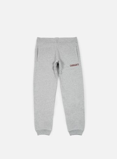 Carhartt - College Sweat Pant, Grey Heather/Cordovan 1