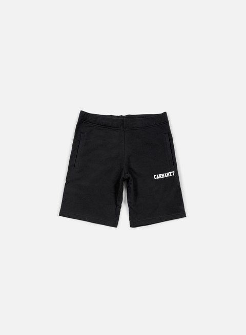 pantaloni carhartt college sweat short black white