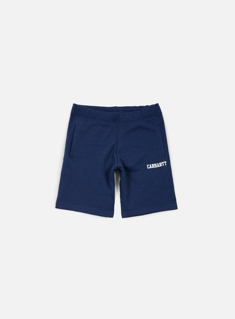 pantaloni carhartt college sweat short blue white