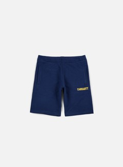 Carhartt - College Sweat Short, Blue/Yellow