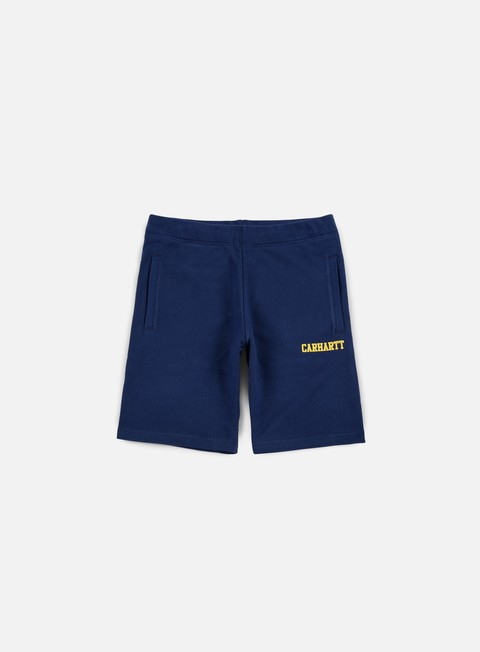 pantaloni carhartt college sweat short blue yellow