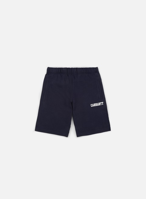 pantaloni carhartt college sweat short dark navy white