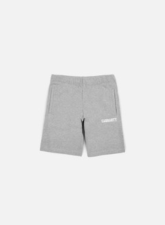 Carhartt - College Sweat Short, Grey Heather/White