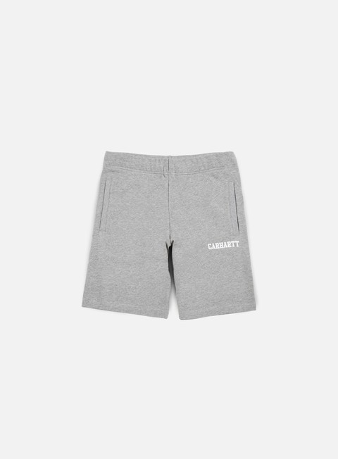 pantaloni carhartt college sweat short grey heather white