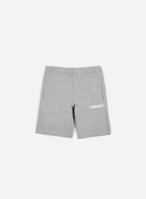 Carhartt - College Sweat Short, Grey Heather/White