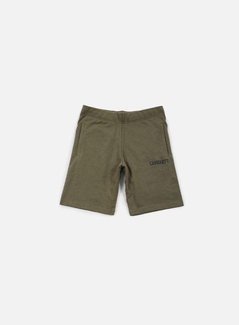 pantaloni carhartt college sweat short leaf black