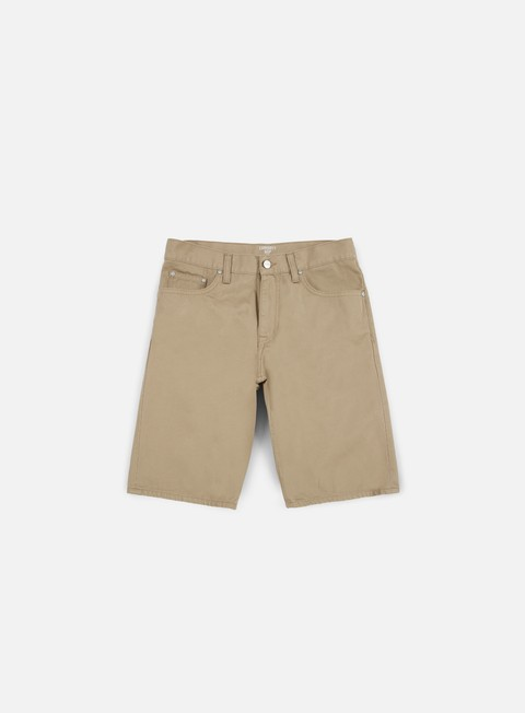 pantaloni carhartt davies short leather rinsed