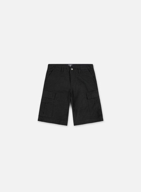 pantaloni carhartt regular cargo short black rinsed