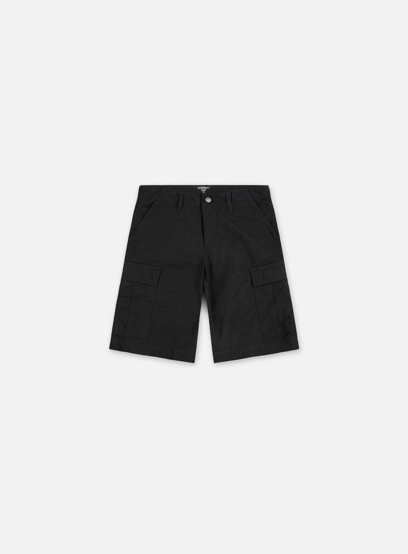 Carhartt - Regular Cargo Short, Black Rinsed