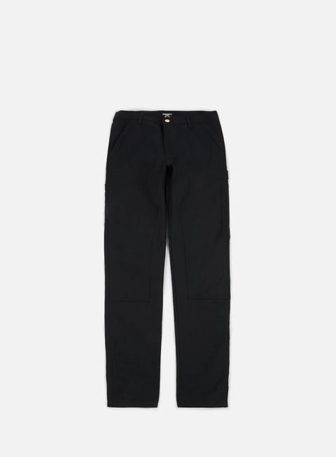 pantaloni carhartt ruck double knee pant black