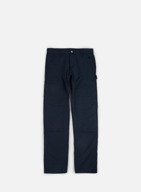 pantaloni carhartt ruck double knee pant navy rinsed