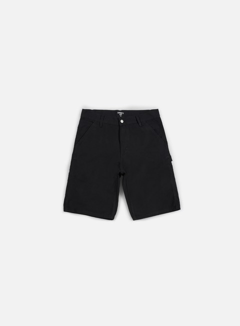 pantaloni carhartt ruck single knee short black rinsed