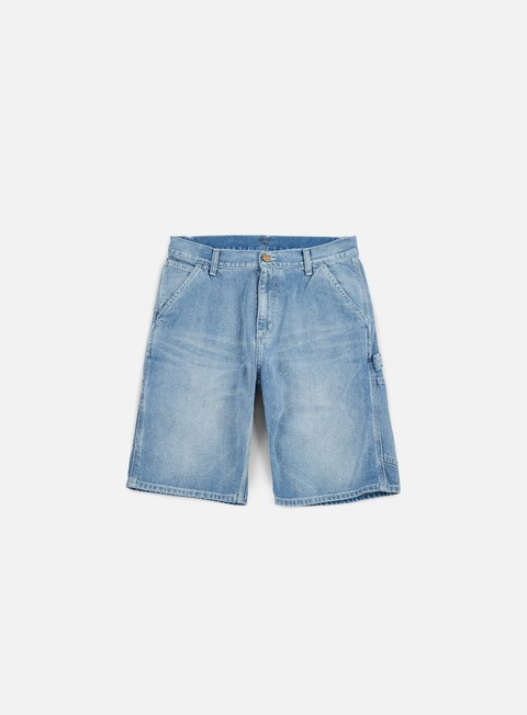 pantaloni carhartt ruck single knee short blue bleached