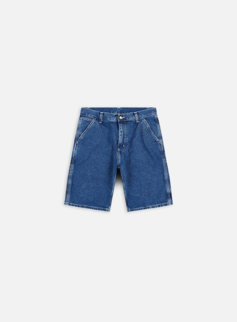 pantaloni carhartt ruck single knee short blue true stone