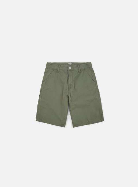 pantaloni carhartt ruck single knee short dollar green stone washed