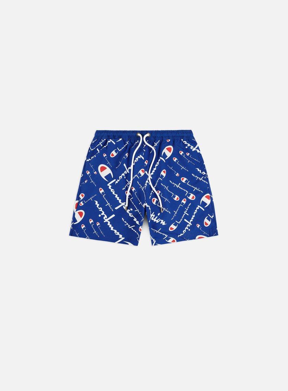 Champion All Over Logo Print Beach Shorts